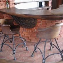 Medinės kėdės ir stalai kavinėms Palangoje