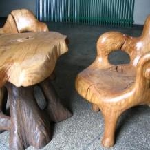 Mediniai lauko baldų komplektai Palangoje